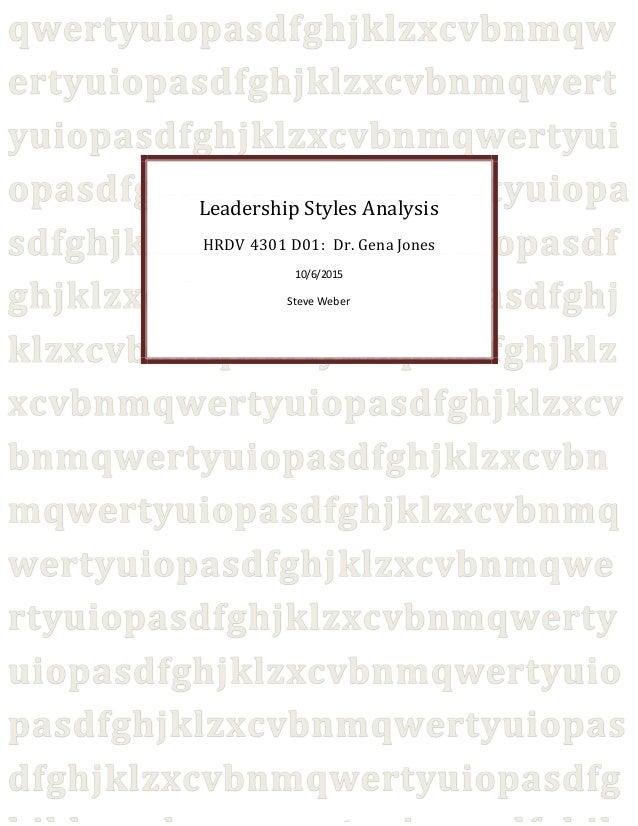 Leadership Styles Analysis 2
