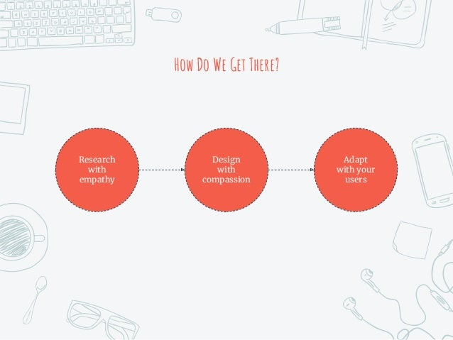 How Do We Get There? Research with empathy Adapt with your users Design with compassion
