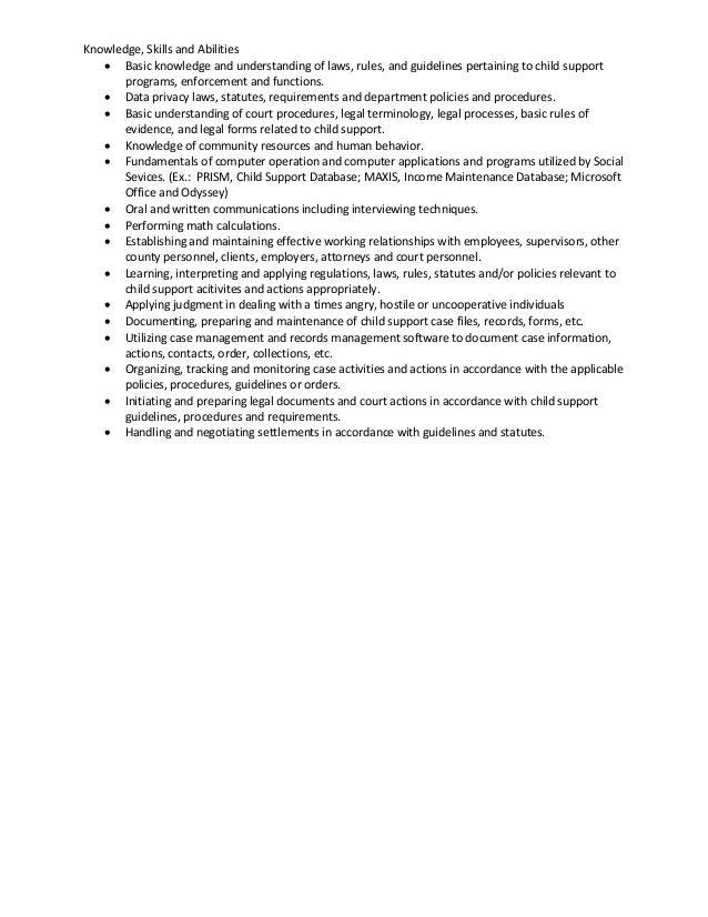 Child support officer job description - Insurance compliance officer job description ...