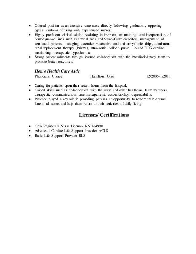 nursing resume for graduate school - Home Health Nurse Resume