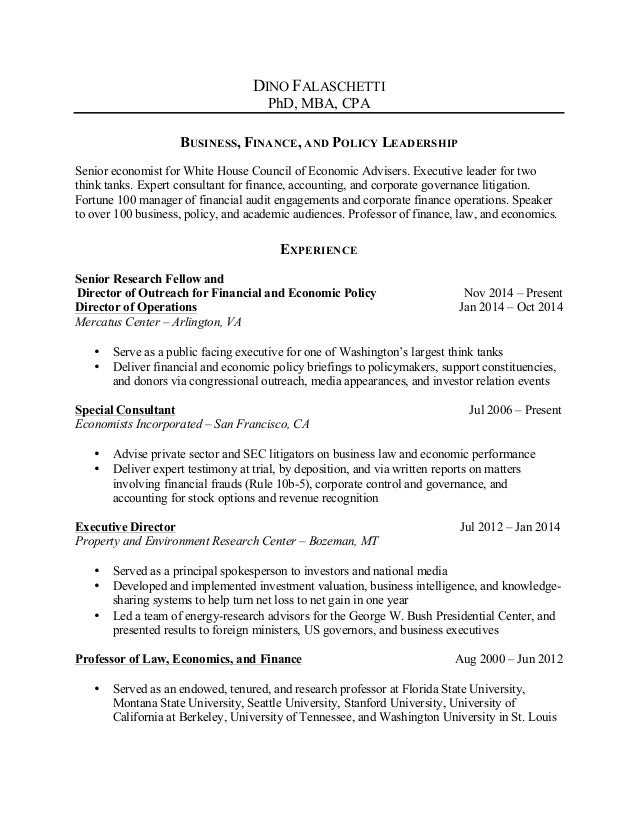 Falaschetti 20141129 - Bio and Resume