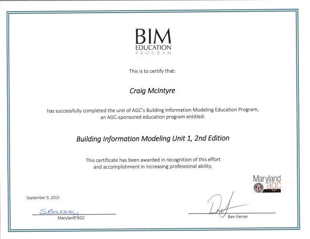 Cm Bim Unit 1 Certification1