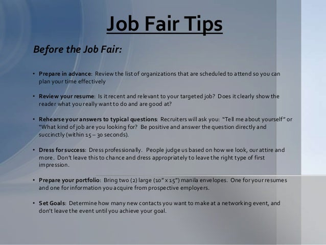 Job Fair Presentation