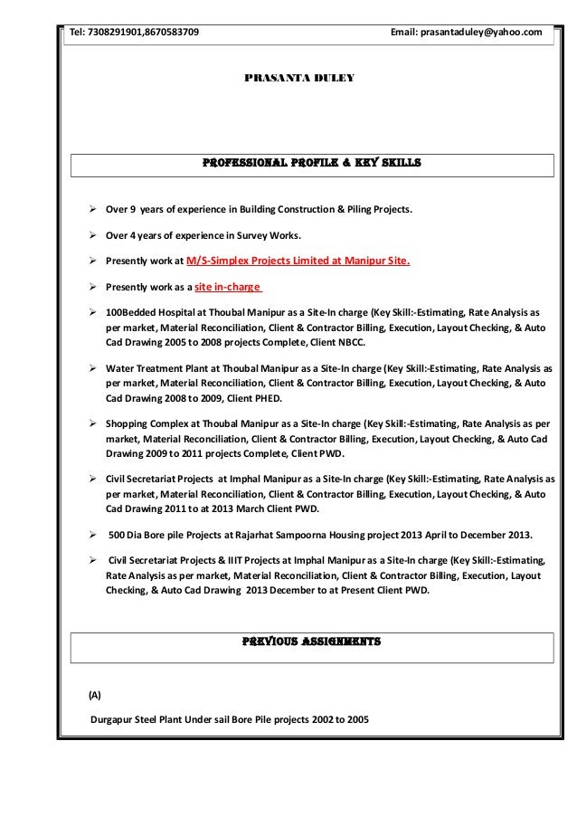 Prasanta Resume