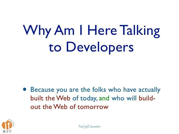 Mobile Web Apps Best Practices Presentation at Design4Mobile 2009 Slide 3