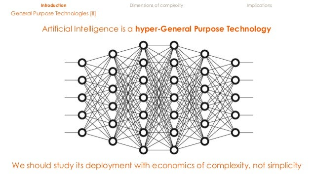 Introduction Dimensions of complexity Implications General Purpose Technologies [II] We should study its deployment with e...