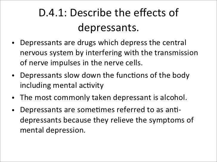 d4 presentationd4 depressants ellie, carson, april, chynna; 2