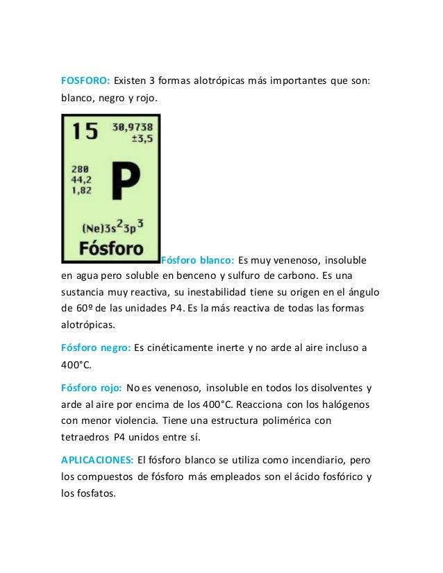 Grupos de la tabla periodica 14 fosforo existen 3 formas alotrpicas ms importantes urtaz Choice Image