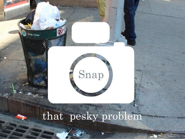Snapthat pesky problem