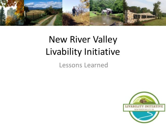 New River ValleyLivability Initiative   Lessons Learned