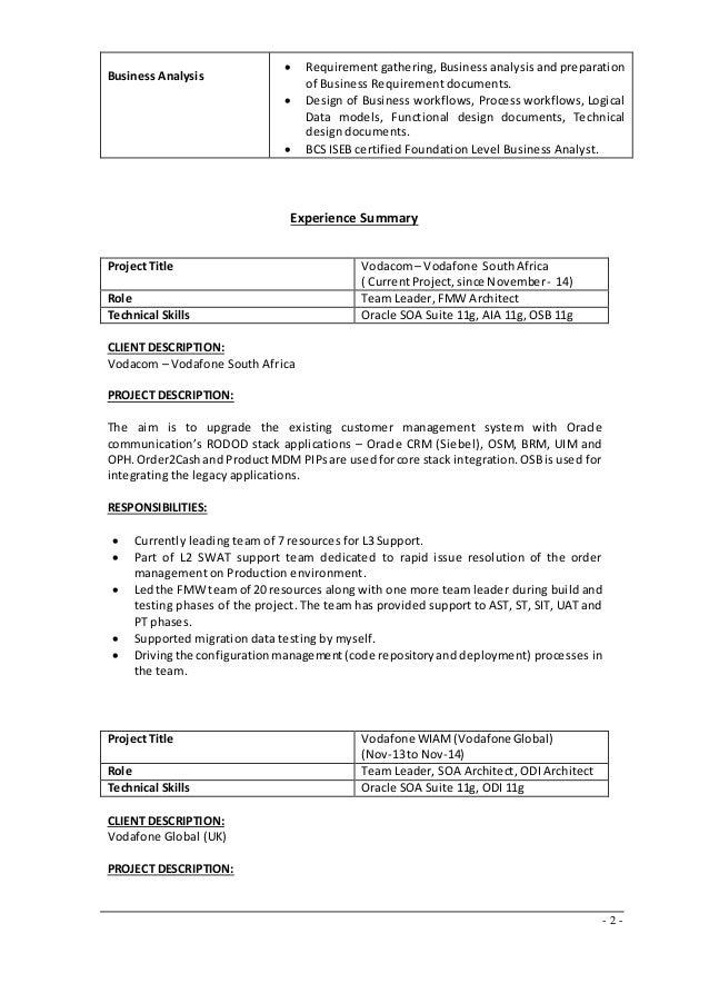 soa solution architect resume resume templates design