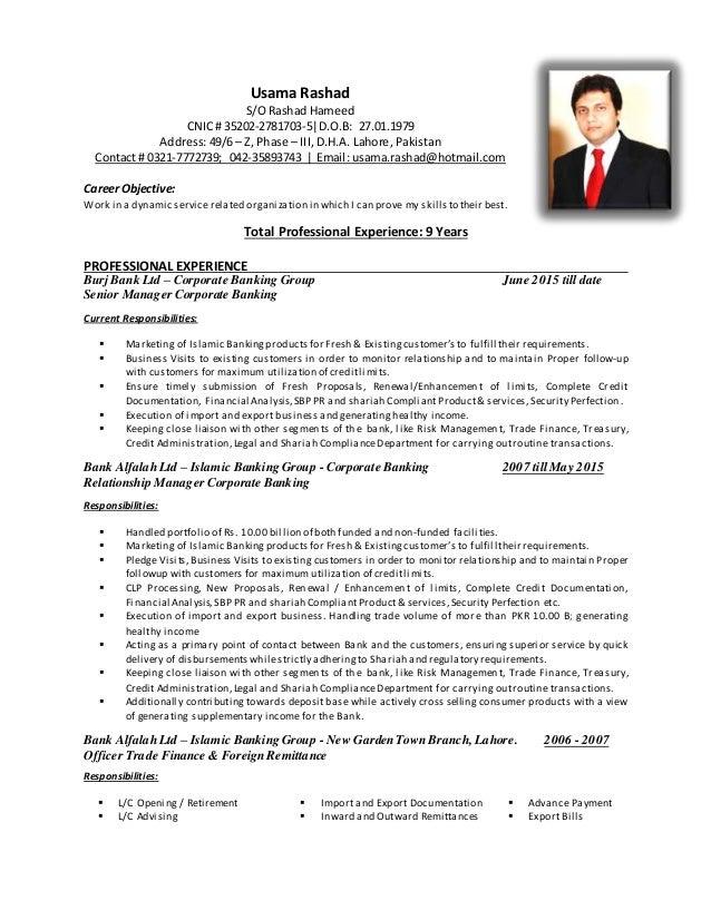 resume usama rashad 2015