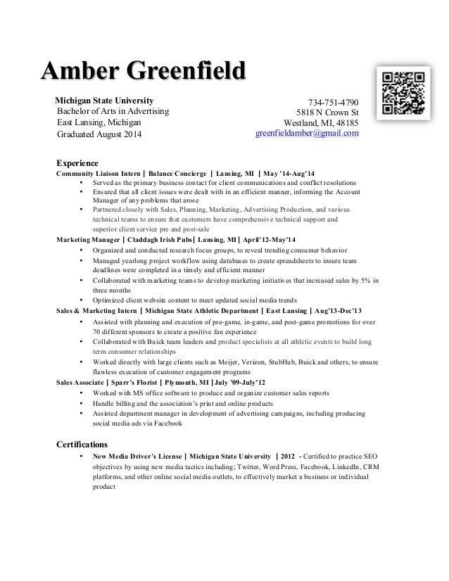 Ag resume