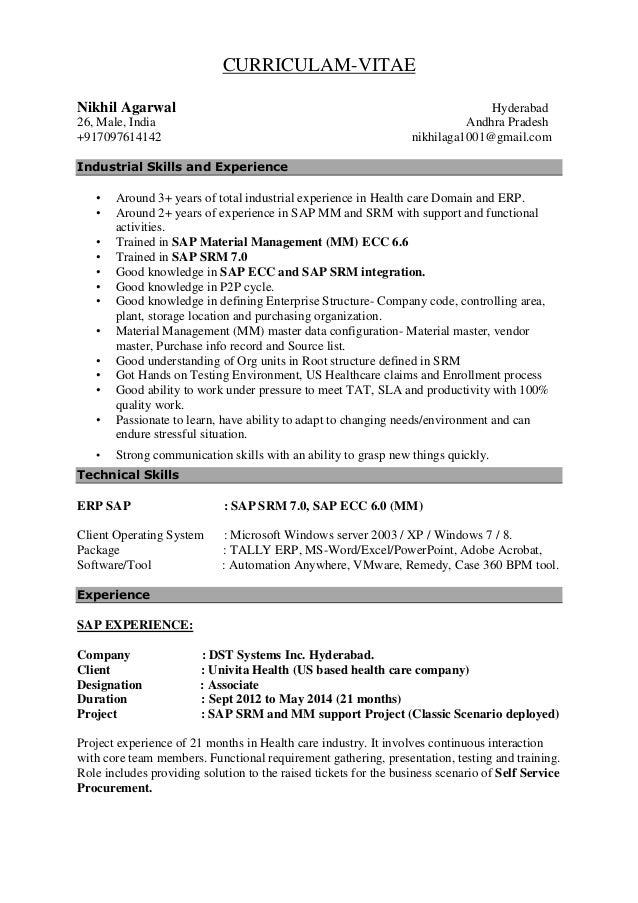 resume of nikhil agarwal
