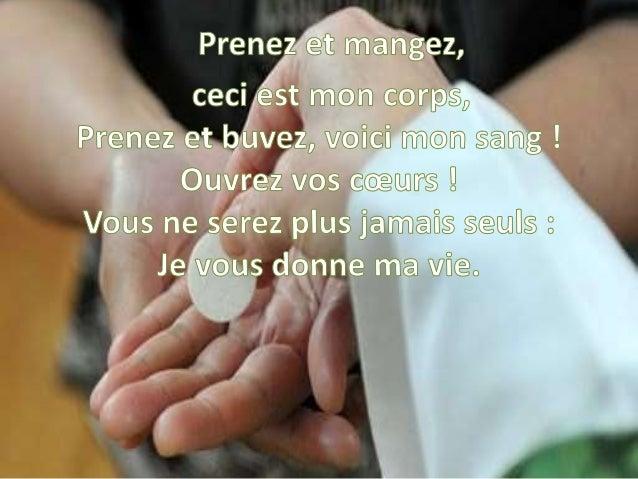 Demeurez en moi, comme je demeure en vous, Qui demeure en mon amour, celui-là portera du fruit. Comme Dieu, mon Père, ains...