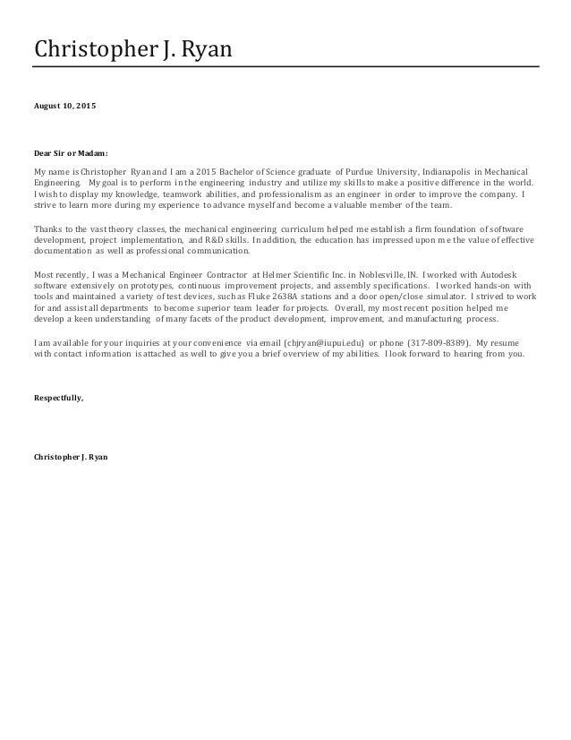 Fresh Essays | cover letter dear sir or madam