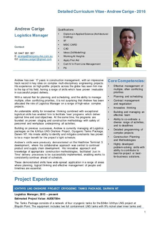 andrew card resume