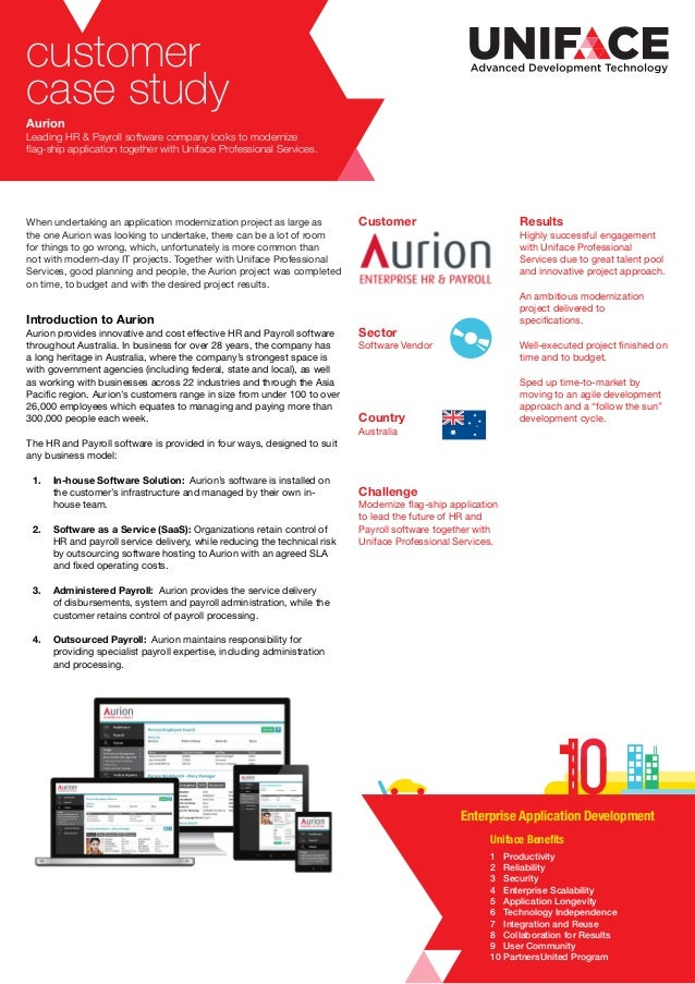 customer case study Aurion Leading HR & Payroll software company looks to modernize flag-ship application together with Un...