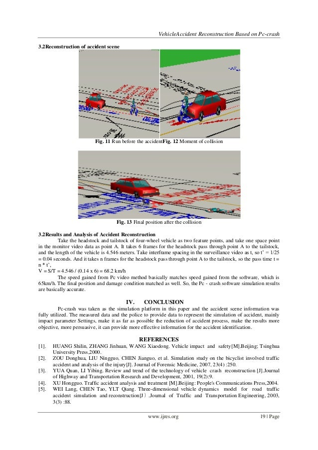 Vehicle Accident Reconstruction Based on Pc-crash