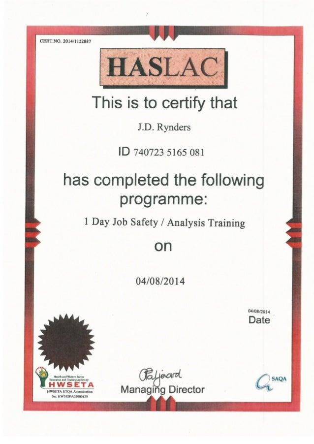 9001 Rynders Certif