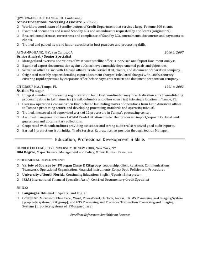 Workflow Analyst Cover Letter