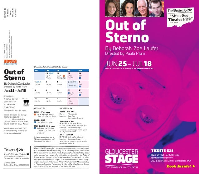 Out of Sterno By Deborah Zoe Laufer Directed by Paula Plum JUN25–JUL18PRESENTED BY SPECIAL ARRANGEMENT WITH SAMUEL FRENCH,...