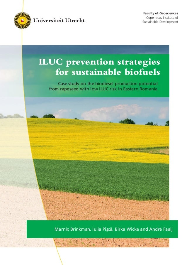 Faculty of Geosciences Copernicus Institute of Sustainable Development ILUC prevention strategies for sustainable biofuels...