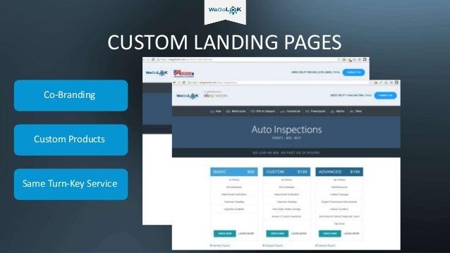 CUSTOM LANDING PAGES Co-Branding Custom Products Same Turn-Key Service