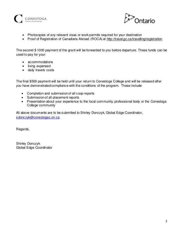 Marcus Acceptance Letter