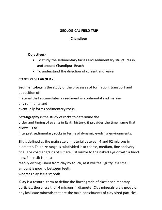geology 2 field report