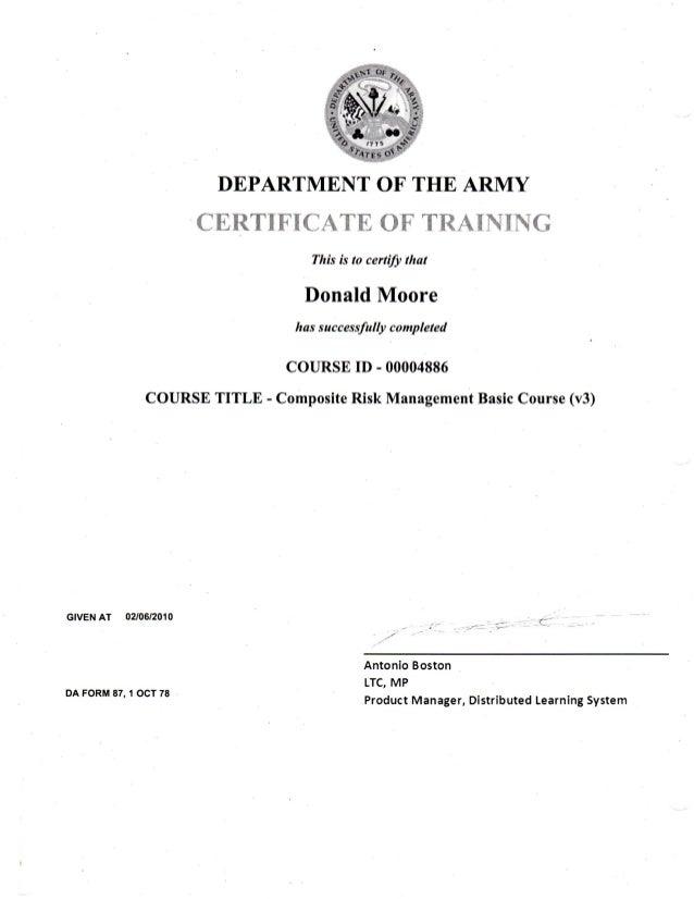 Composite Risk management Basic Course Answers