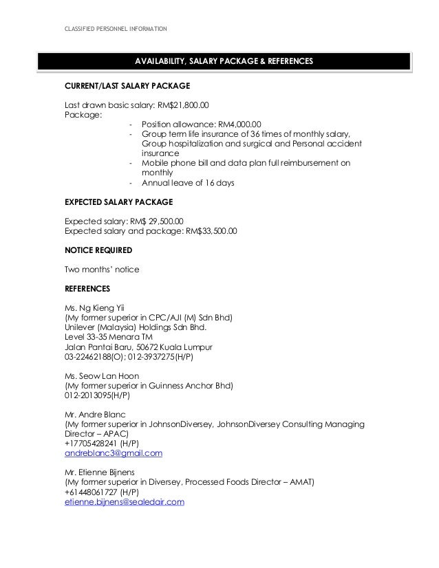 last drawn salary in resume twnctry