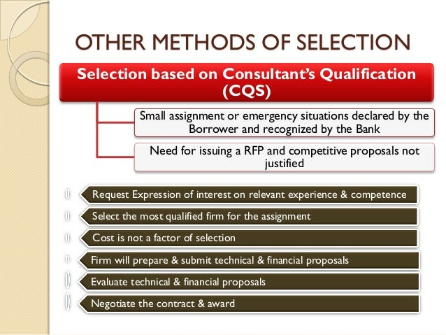 Consulting Services Procurement And Selection August 2013 Presentation