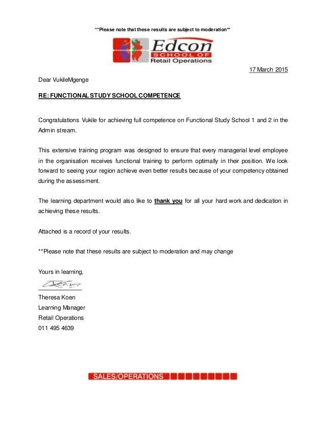 Vukile Mgenge competency letter