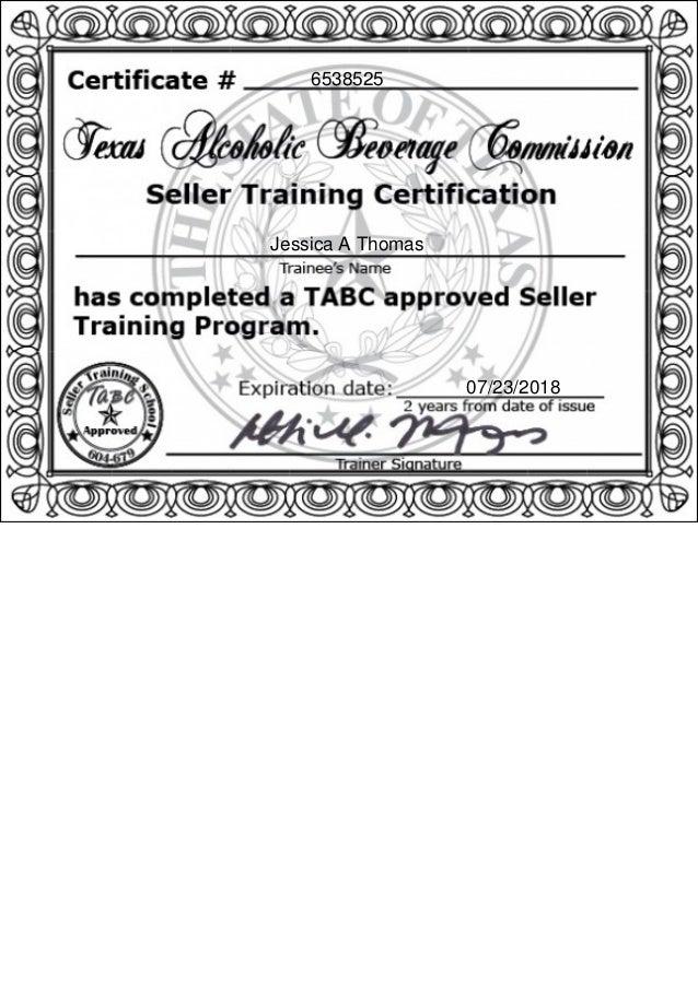 Tabc Certification Picswe