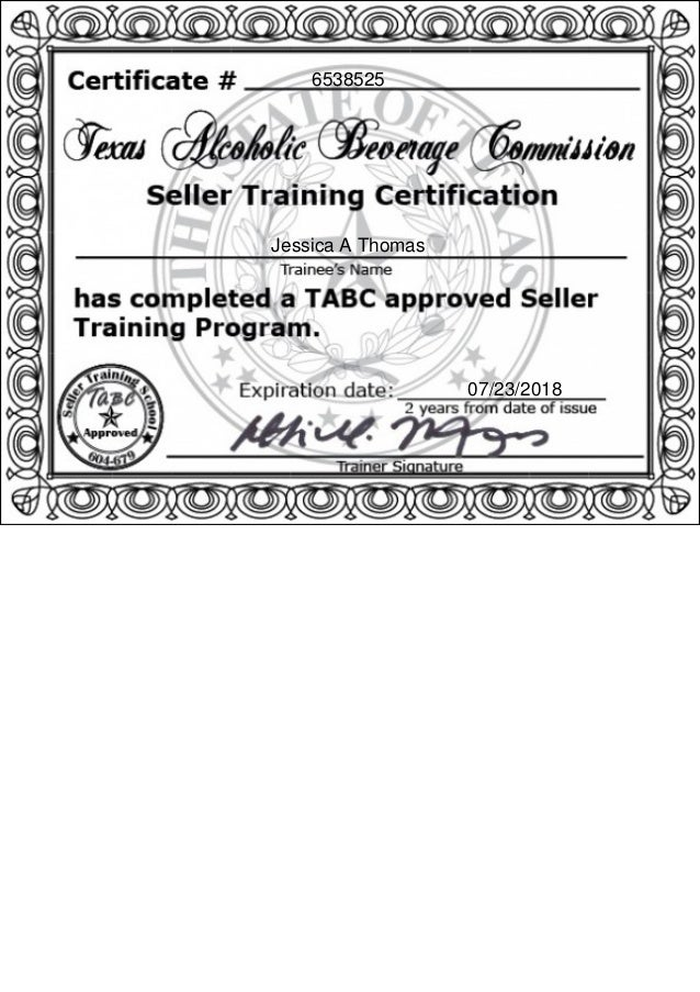 Tabc Certification Images - creative certificate design inspiration