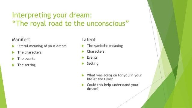 Sigmund Freud, Interpretation of Dreams (pdf) (Ch. VI, The Dream-Work)
