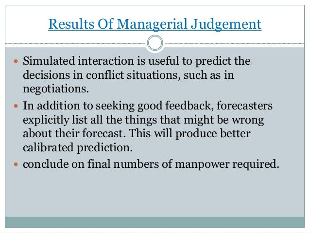 managerial judgement ppt