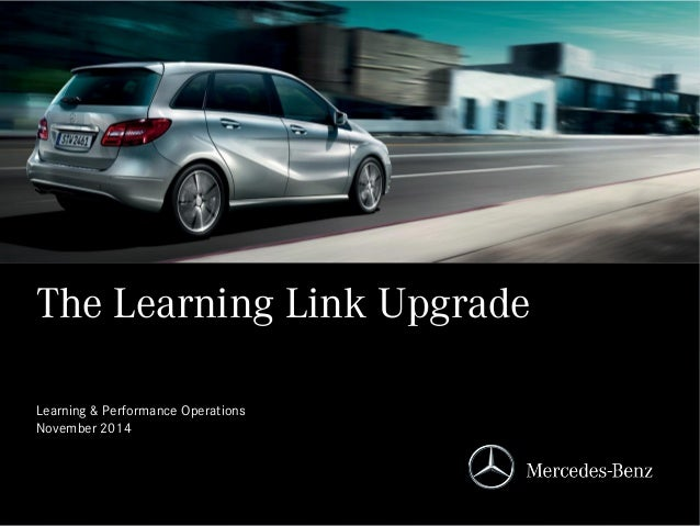 The Learning Link Upgrade Learning & Performance Operations November 2014