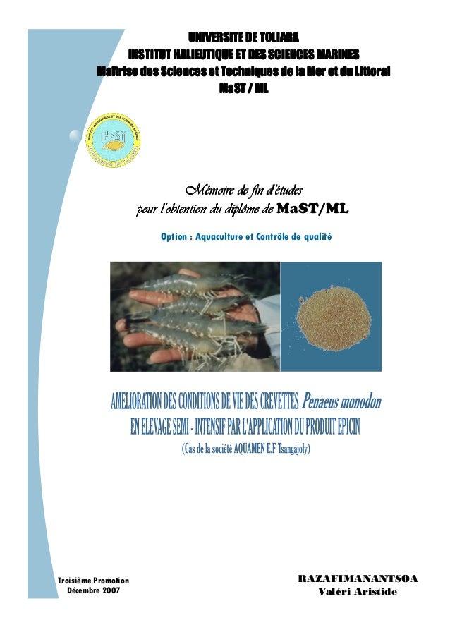 UNIVERSITE DE TOLIARAUNIVERSITE DE TOLIARAUNIVERSITE DE TOLIARAUNIVERSITE DE TOLIARA INSTITUTINSTITUTINSTITUTINSTITUT HALI...