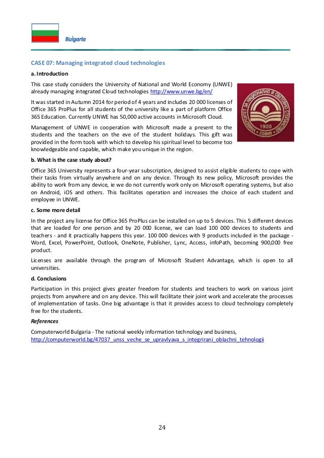 24 CASE 07: Managing integrated cloud technologies a. Introduction This case study considers the University of National an...