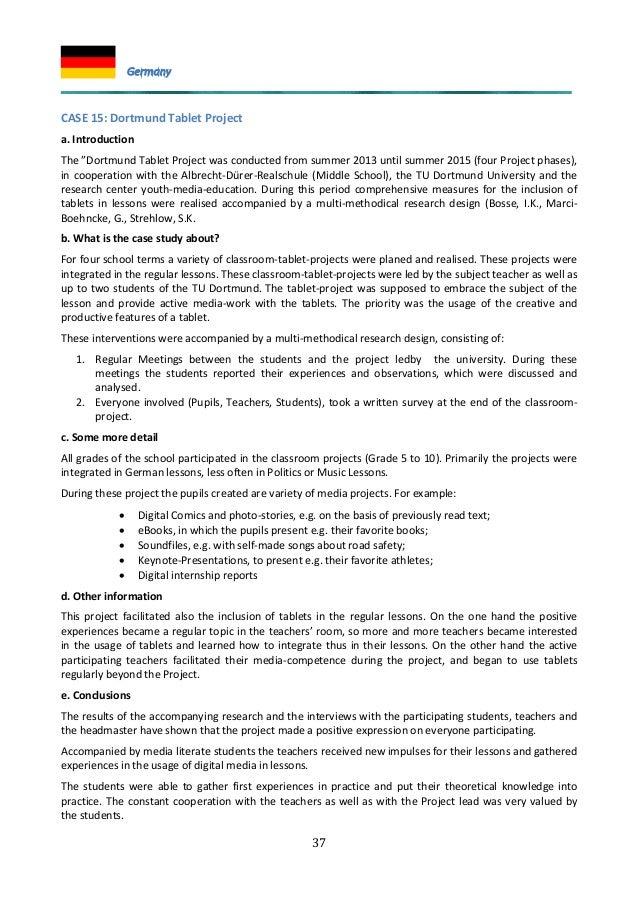 "37 CASE 15: Dortmund Tablet Project a. Introduction The ""Dortmund Tablet Project was conducted from summer 2013 until summ..."