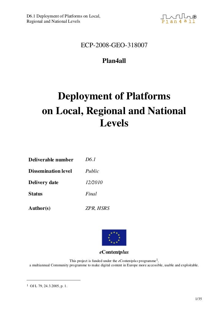 D6.1 deployment of_platforms_on_local_regional_and_national_levels