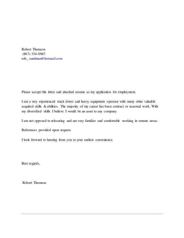 robert thomsoncover letter  u0026 resume by me