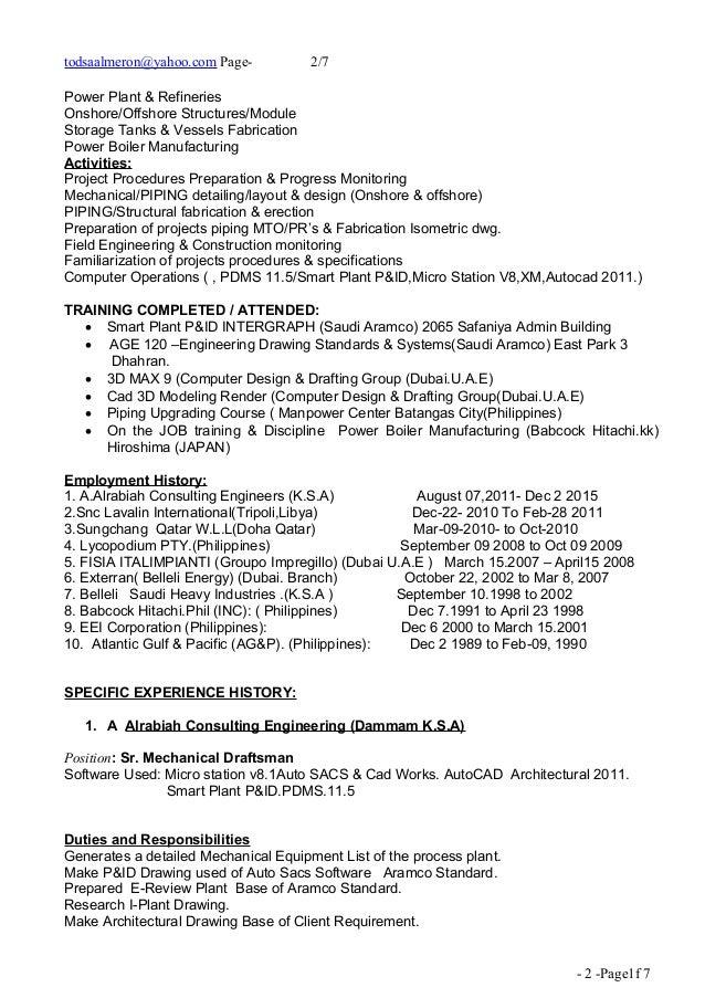 Piping Design Jobs | Resume CV Cover Letter