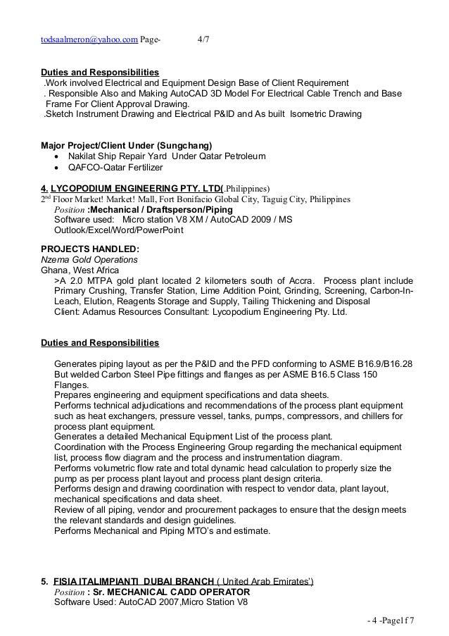 Piping Designer CV