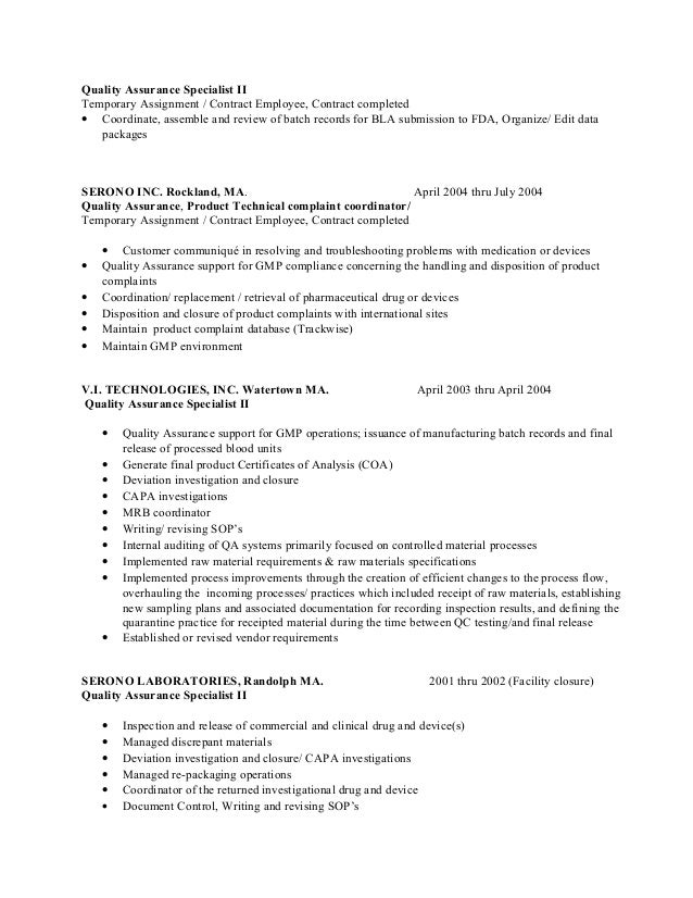 experienced resume quality assurance resume qa job resume sample hyper recruitment solutions