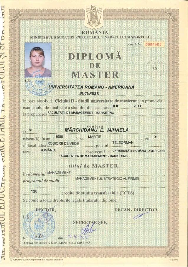 master mihaela diploma master mihaela
