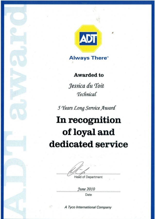long service certificate template sample - long service award certificate