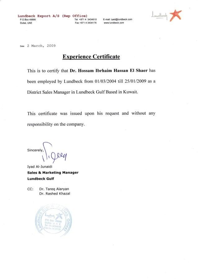Lundbeck experience certificate lundbeck experience certificate lundbeck eport as rep office pox49886 tel spiritdancerdesigns Images